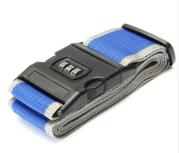 Wholesale luggage accessories Safety belt Belt Lock Combination Travel Luggage Suitcase band