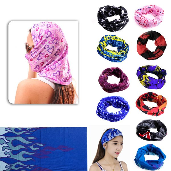10 color outdoor sports camping and mount aineering scarf bicycle bike scarf magic headband scarf color random