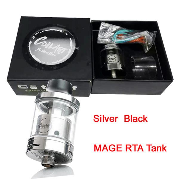 Clone Coil Art MAGE RTA Panzer Coilart Mega RTA 3.5ml Kapazität 24mm mit Ersatzglasrohr passend für 510 Mods DHL Free ATB520
