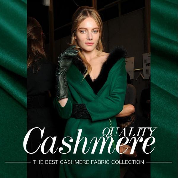 best selling Dark green thickening European American High-end Elegant Fashion Womens Stripe Wool Fabrics for Clothes Cashmere skirt wool fabric B160