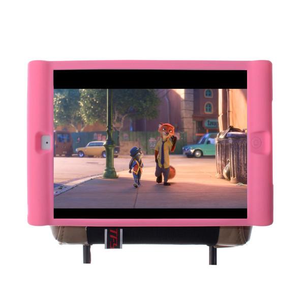 TFY Kids Car Headrest Mount Holder for iPad Air(iPad 5 5th Generation)-Detachable Lightweight Shockproof Anti-slip Soft Silicone Handle Case
