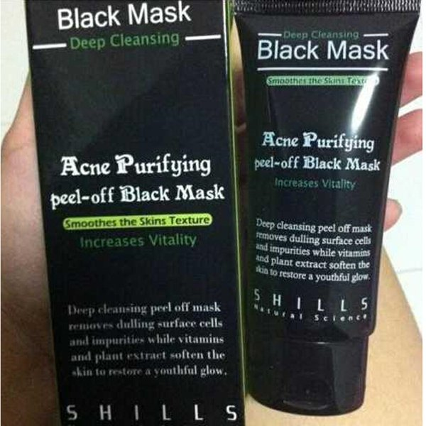 best selling 2020 New Shills Peel-off face Masks Deep Cleansing Black MASK 50ML Blackhead Facial Mask free ship