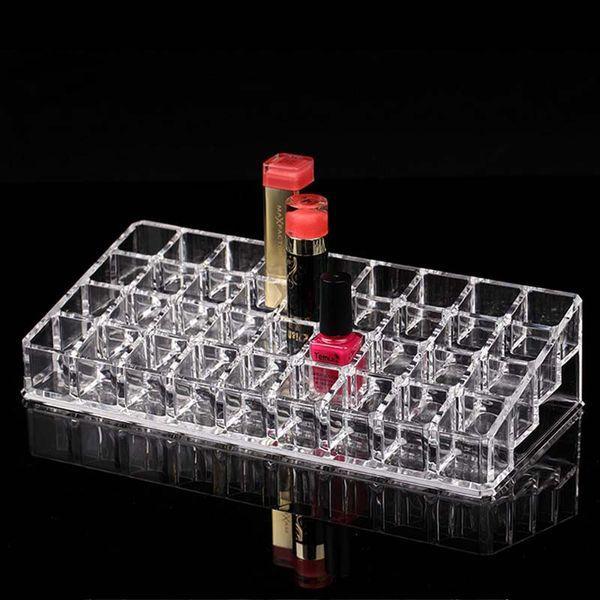 New Fashion 36 Grids Acrylic Lipstick Holder Cosmetic Storage Box Makeup Organizer Sundries Display Box Free Shipping