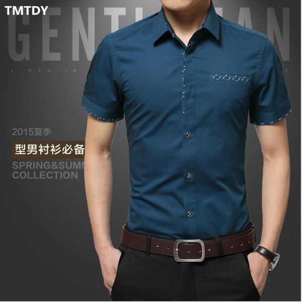 Winwinus Men Solid Color Business Long Sleeve Turn-Down Collar Shirt Tops
