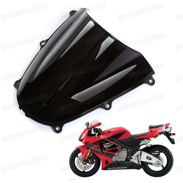 Nova motocicleta dupla bolha pára brisas ABS para Honda CBR 600RR 2005-2006 F5