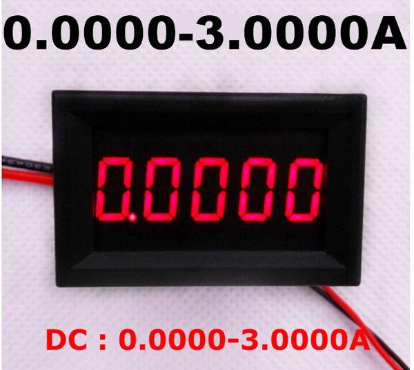 10pcs/lot Motorcycle Digital Amp Current Meter Gauge Ammeters Panel DC 0.0000-3.0000A tester LED Display