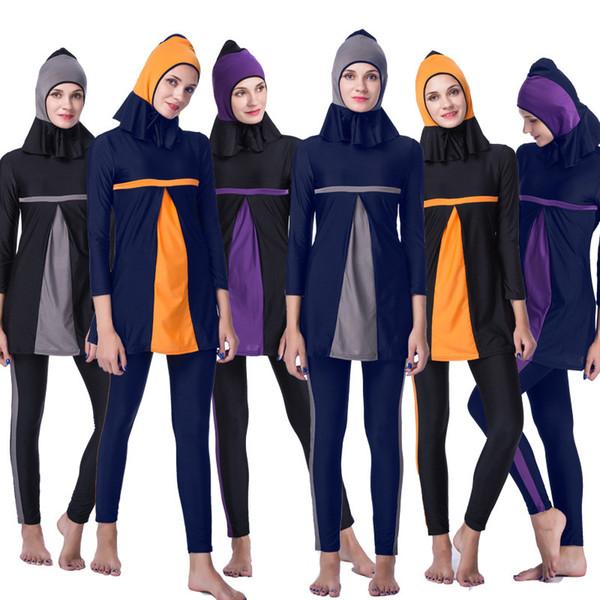 e0fd1989dc 2018 Cheap Swimwear Women Muslim Swimwear Swimsuit Plus Size Women Full  Cover Islamic Hijab Islam Bikini