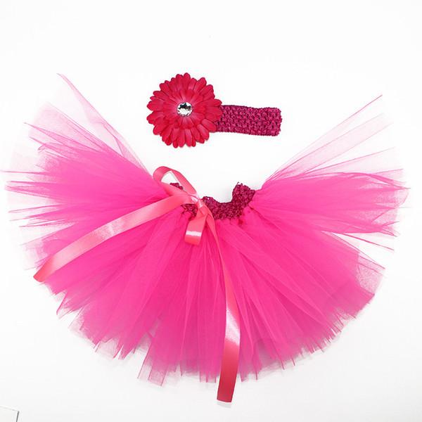 Gonna per bambina Multi Strati Organza Tutu Fascia per capelli con cravatta Free Photo Prop Outfit Dress 12 colori