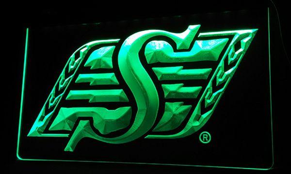 best selling LS068-g Saskatchewan Roughriders Sport LED Neon Light Sign