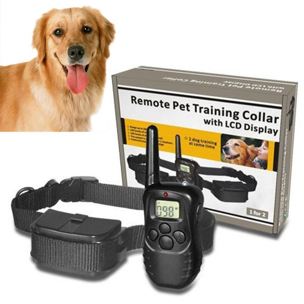 Remote Pet Training Collar with LCD Display 100LV 300 Yard Level Dog Training Behaviour Aids Collar with Battery&Retail Package
