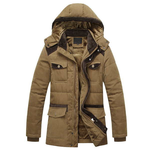 Fall-Top quality Men Parka 2016 Winter New Brand Outdoor warm Thick Coats Vintage Style Mens Casual Cotton-Padded Jacket
