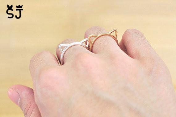 wedding to handmade engagement details animal ringscollection paw rings gold ring wolf ori