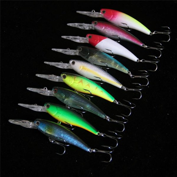 Minnow Fishing Lure Isca Artificial Hard bait 9cm 8g ABS Plastic Laser Lures Diving Depth 0.6-1.8m