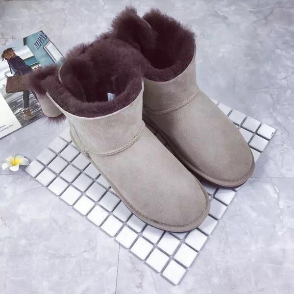 2018 новая мода австралийский WGG классические высокие зимние сапоги кожа лук сапоги Женские сапоги снег загрузки вниз доставка