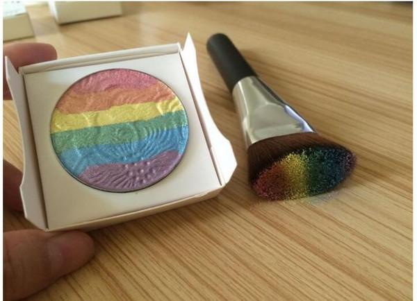 Prism Rainbow Highlighter di Bitter.Lace.Beauty viso cosmetico occhi trucco bronzer Cosmetico Fard Shimmer Multi-effec Spedizione gratuita