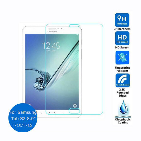 Film de verre trempé anti-éclat pour Samsung GALAXY Tab S2 T710 T715 8