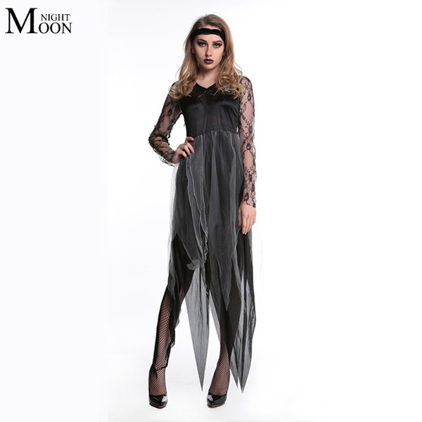 Wholesale-Ghost Bride Costume Sexy Cosplay Halloween Costume Zombie Dress Female Devil Cosplay for Halloween Costume
