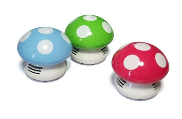 Cheap Portable Electric household cleaneCreative cartoon mushrooms Desktop cleaner cute fashion mini Desktop keyboard dust cleaner mushrooms