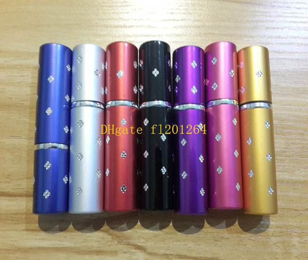 top popular 100pcs lot Free Shipping 5ML Mini Portable Makeup Aftershave Refillable Perfume Empty Bottle Spray Atomizer With star, 2021