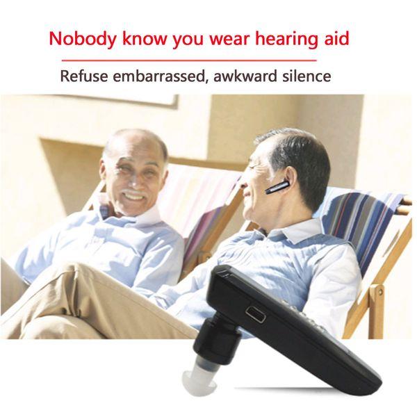 Audífono Bluetooth Recargable Anciano Biauricular Amplificador de sonido Audífonos Audífonos Sordos Dispositivos de herramienta Envío gratis S-101