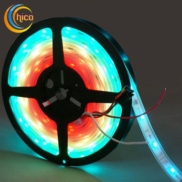led strip lights 12V 5m curtain light 150leds/M WS2811 Led Digital strip light Dream RGB Individually addressable