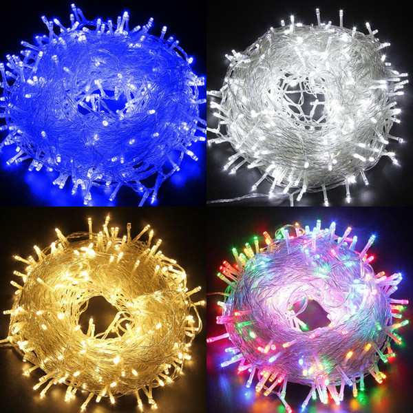 30M/100M 500 LED String Fairy Lights 24V Safe Voltage Xmas Decor Warm White lights Twinkle lighten Colorfull Christmas Party Wedding