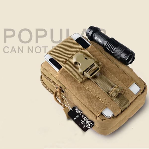 Paquete de la gota del muslo Mensajero Hombro Bolsas de teléfono Molle Bolsa Cinturón Campamento de bolsillo Cintura Fanny Bolsa