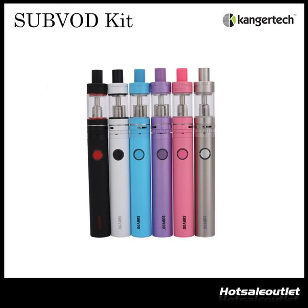 Authentic Kangertech SUBVOD Starter Kit Nano S Tank 1.9ML with 1300mAh SUBVOD Battery The Newest Sub-ohm Vaping Kit