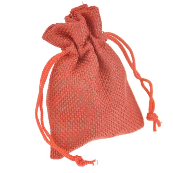 7x9cm Custom Faux Jute Drawstring Jewelry Bags Candy Beads Small Pouches Burlap Blank Linen Fabric Gift packaging bags Hessian bag for sale