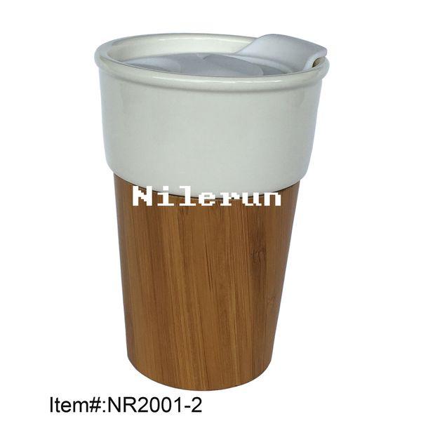 bamboo ceramic auto cup car cup coffee mug