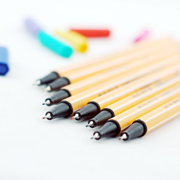 10Pcs / Lot Dessin de bande dessinée Stylo de couleur de couleur Allemagne Caneta Matériel de stylo Escolar Sketch Supplies Papeterie Fine Point 04075