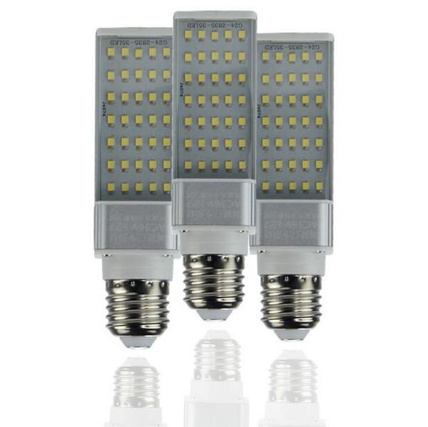E27 GW 5W 7W 9W 11W 13W 15W 110V 220V Lámpara horizontal del enchufe SMD2835 Bombillas LED PL Lámpara del maíz Luz del punto Iluminación