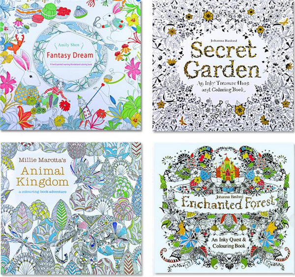 2017 Secret Garden Adult English Decompression Hand Painted Color In Coloring Book Enchanted Forest Children