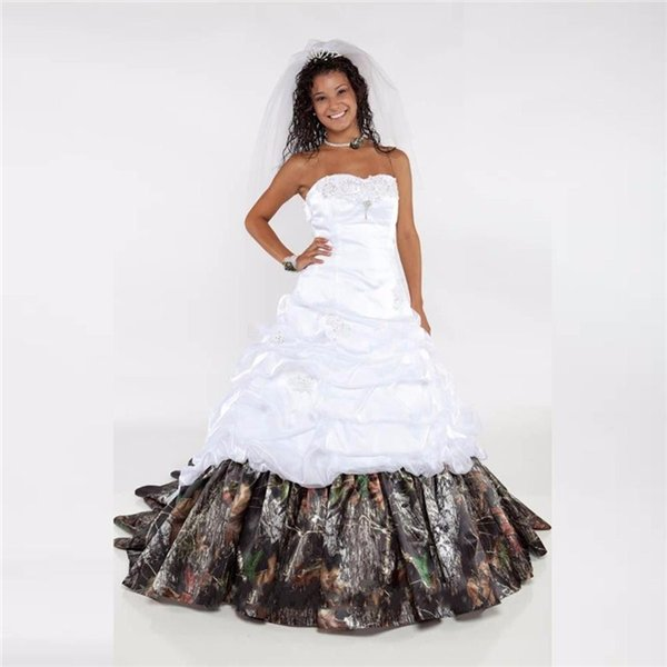 Discount 2017 Realtree Camo Wedding Dresses Sweetheart Beaded Lace ...