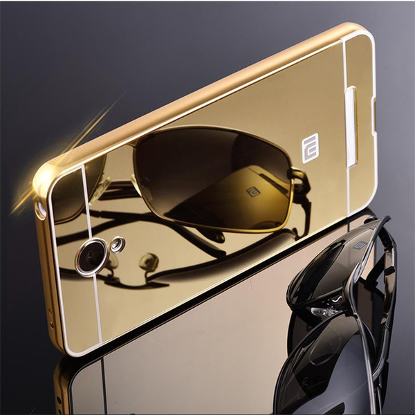 Wholesale-Hot Sale For Xiaomi Redmi Note 2 Case Luxury Mirror Metal Aluminum+Acrylic Hard Back Cover For Redmi Note2 Fundas Accessory Capa