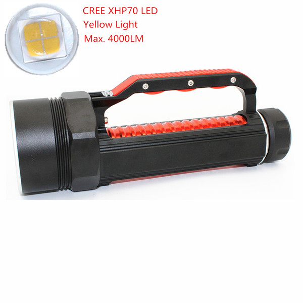 KC Fire New LED Flashlight CREE XHP70 4000LM Waterproof Underwater Diving Light Torch Power Lamp DL0059YB