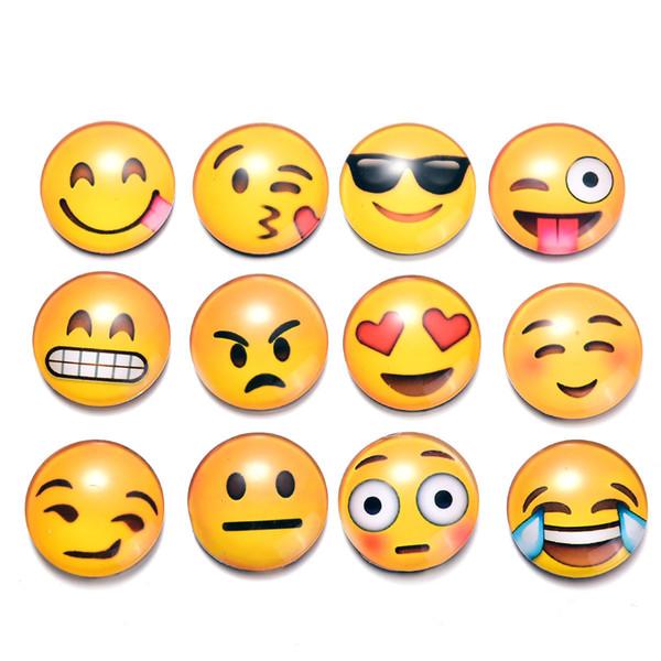 Acheter Emoticone Autocollants Magnetiques Nombreux Styles De Verres En Cristal Qq Livre D Hotes Emoji Petit Visage Aimants Pour Refrigerateur
