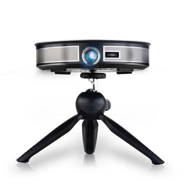 D8S Mini Projektör LED Full HD 1080 P Projektör Android 6.0 2G 16G Taşınabilir Projektör DLP Wifi Ev Sineması Cepler Tutulan HDMI USB