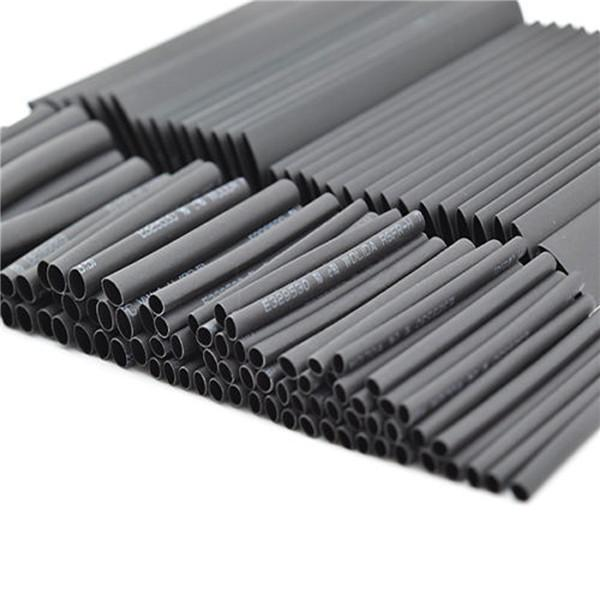 Schwarz 150pcs 8 Größen Sortiment Schrumpfschlauch Schrumpfschlauch Schläuche Wrap Wire Cable Kit