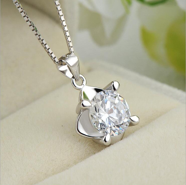 Pendant Necklace Silver Necklace S925 Sterling Silver Korean