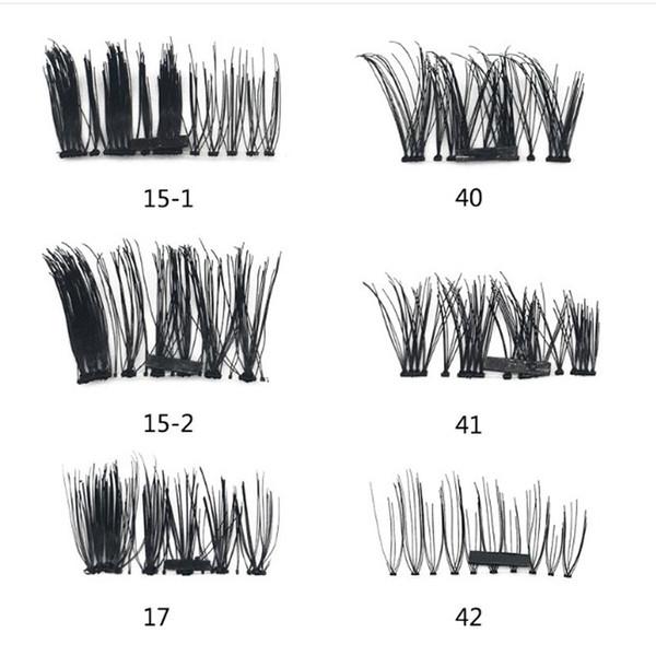 Easy to Wear False Eyelashes Magnetic Eye Lashes Makeup Kit Gift 4Pairs 3D Magnetic Eyelashes Magnet Magnetic Lashes