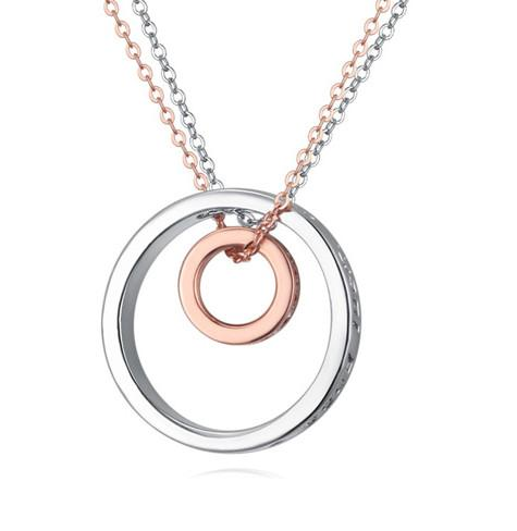Necklaces For Women Fashion Brief Zircon 18K Gold/Platinum Plated Circles Pendant Necklaces Clavicle Chain Necklace Wholesale TN061