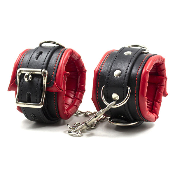 BDSM Toys Restraints Bondage Gear New PU Leather Handcuffs Ankle Cuff Restraints Costume Bondage Sex Toys Sex Products