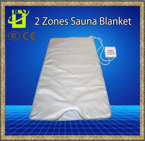 The Best quality INFRARED SAUNA BLANKET 2 ZONE FIR FAR SLIMMING heating SPA Therapy WEIGHT LOSS PORTABLE DETOX Beauty Equipment Ray Heat NEW