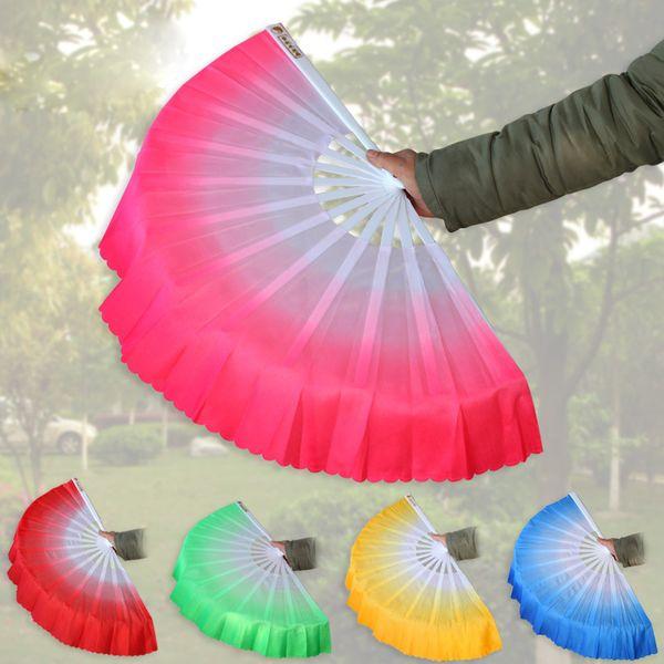 Fan della mano di seta cinese Danza del ventre breve Fan Fan dello spettacolo sul palco Puntelli per party