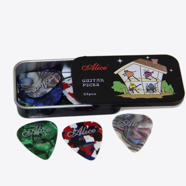 Al por mayor- Correo especial del paquete Alice selecciones genuinas en caja 24 piezas Alice selecciones de guitarra en caja 24 tabletas