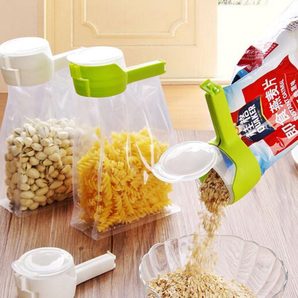 Seal Pour Clip de bolsa de almacenamiento de alimentos clip de sellado de bocado Fresh Keeping Sealer Clamp Plastic Helper Food Saver Gadgets de cocina de viaje