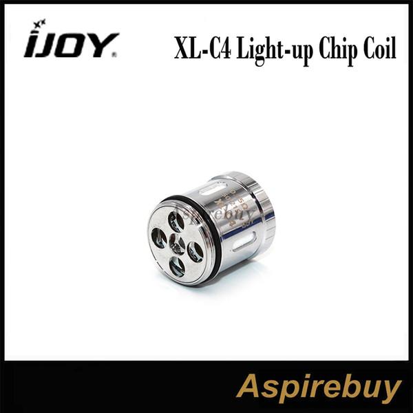 IJOY XL-C4 Light-up Chip Coil 0.15ohm Cabeza de repuesto para IJOY Limitless XL Tank 100% original