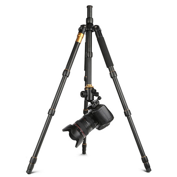 New Q666 Pro QZSD-02 Professional Photographic Portable Tripod & Monopod Set For Digital SLR Camera Only 35cm Load Bearing 15Kg