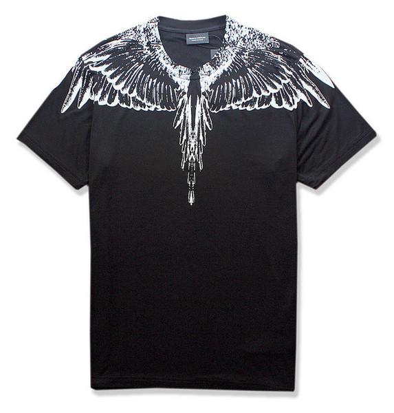 ss new Marcelo Burlon T-Shirt Men Milan Feather Wings T Shirt Men Women Couple Fashion Show RODEO MAGAZINE T Shirts Goros camisetas